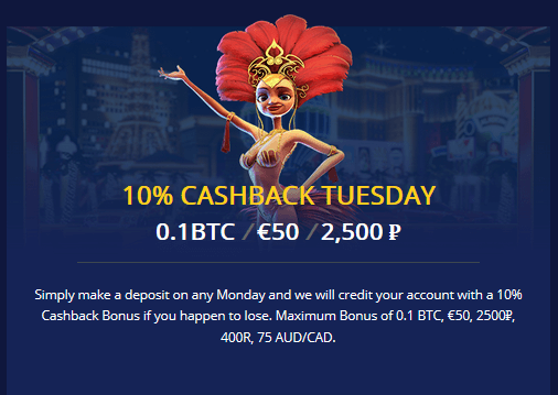 BetChain Cashback Tuesday